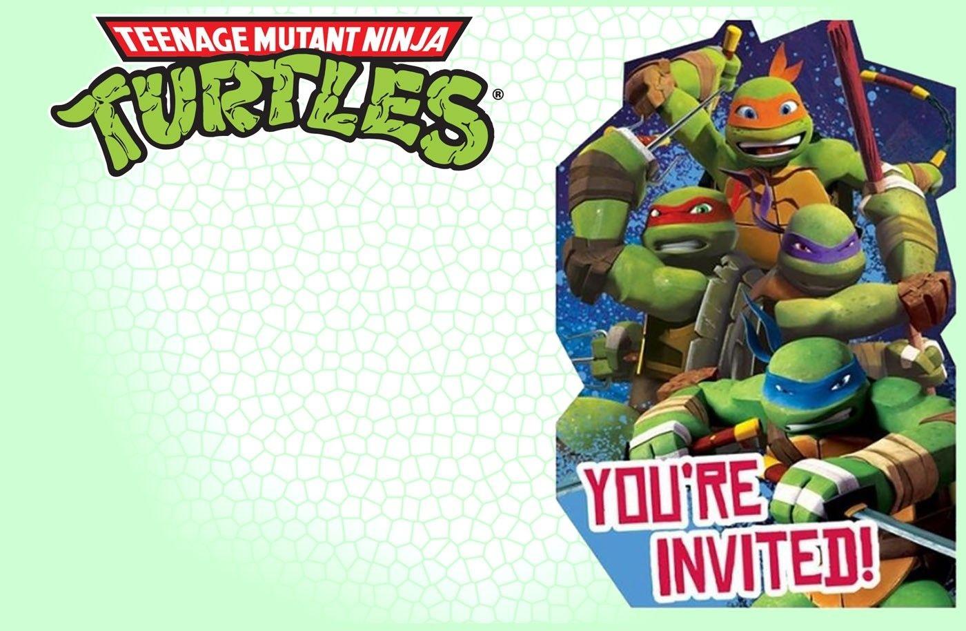 Editable Ninja Turtle Invitation Template | Tkb Printables In 2019 - Free Printable Ninja Turtle Birthday Invitations
