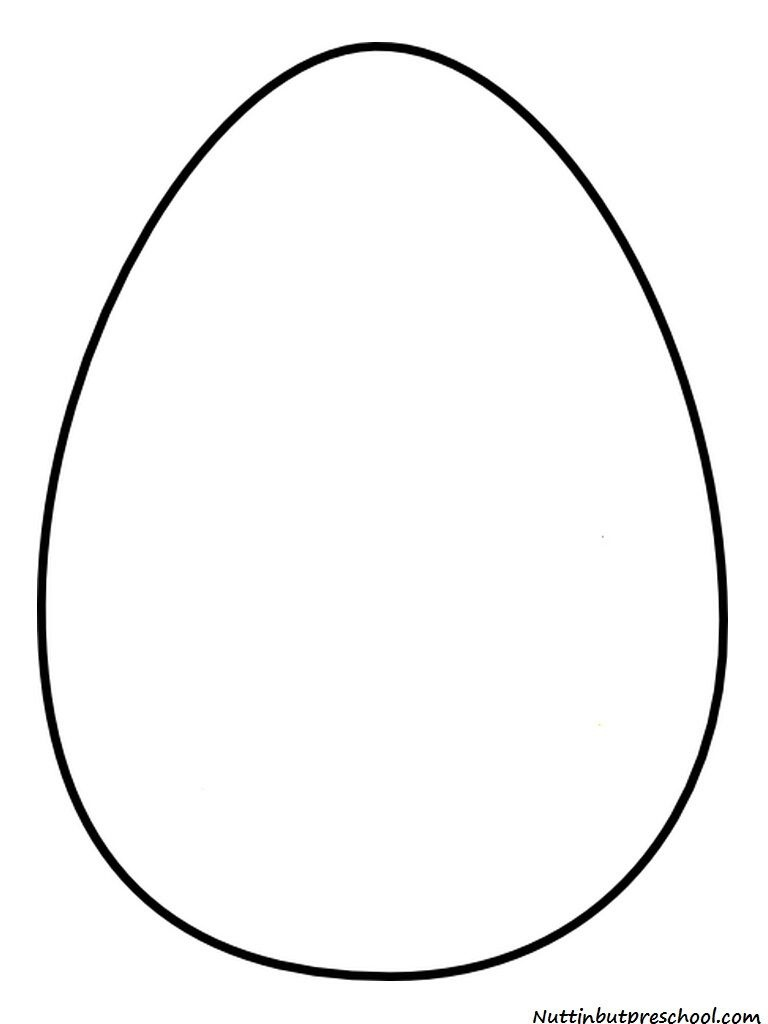 Egg Shape Template | Downloadable And Printable Pattern Here: Egg - Easter Egg Template Free Printable
