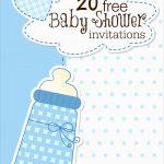 Elegant Free Printable Baby Shower Invitations Templates For Boys   Free Printable Baby Shower Invitations Templates