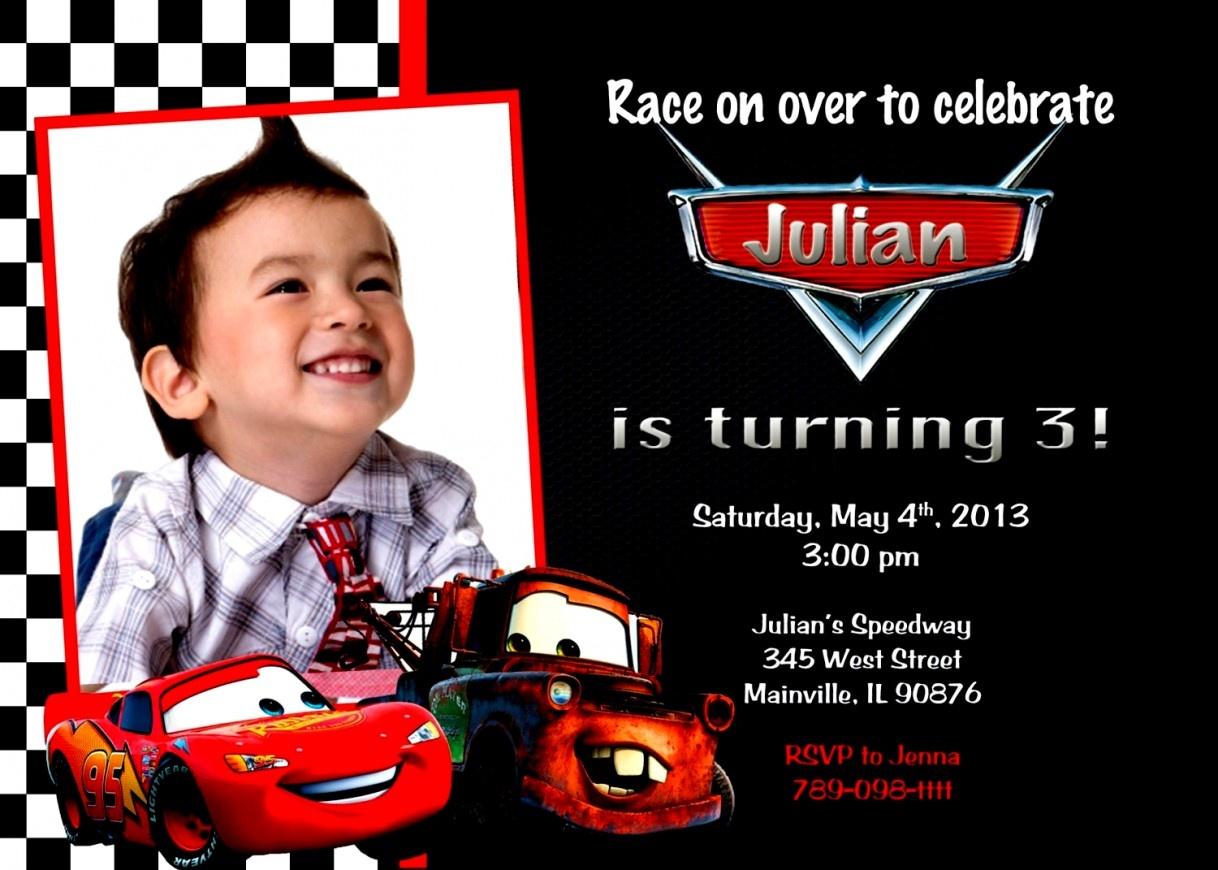 Elegant Of Cars Birthday Party Invitations Free Printable Theme Kids - Free Printable Disney Cars Birthday Party Invitations