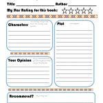 Elementary Book Report Template On Book Report Worksheet Printable   Free Printable Book Report Forms For Elementary Students