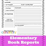 Elementary Book Reports Made Easy | Homeschooling | Book Report   Free Printable Book Report Forms For Elementary Students
