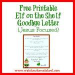 Elf On The Shelf Farewell Letter Printable | Elf On The Shelf | Elf   Elf On A Shelf Goodbye Letter Free Printable