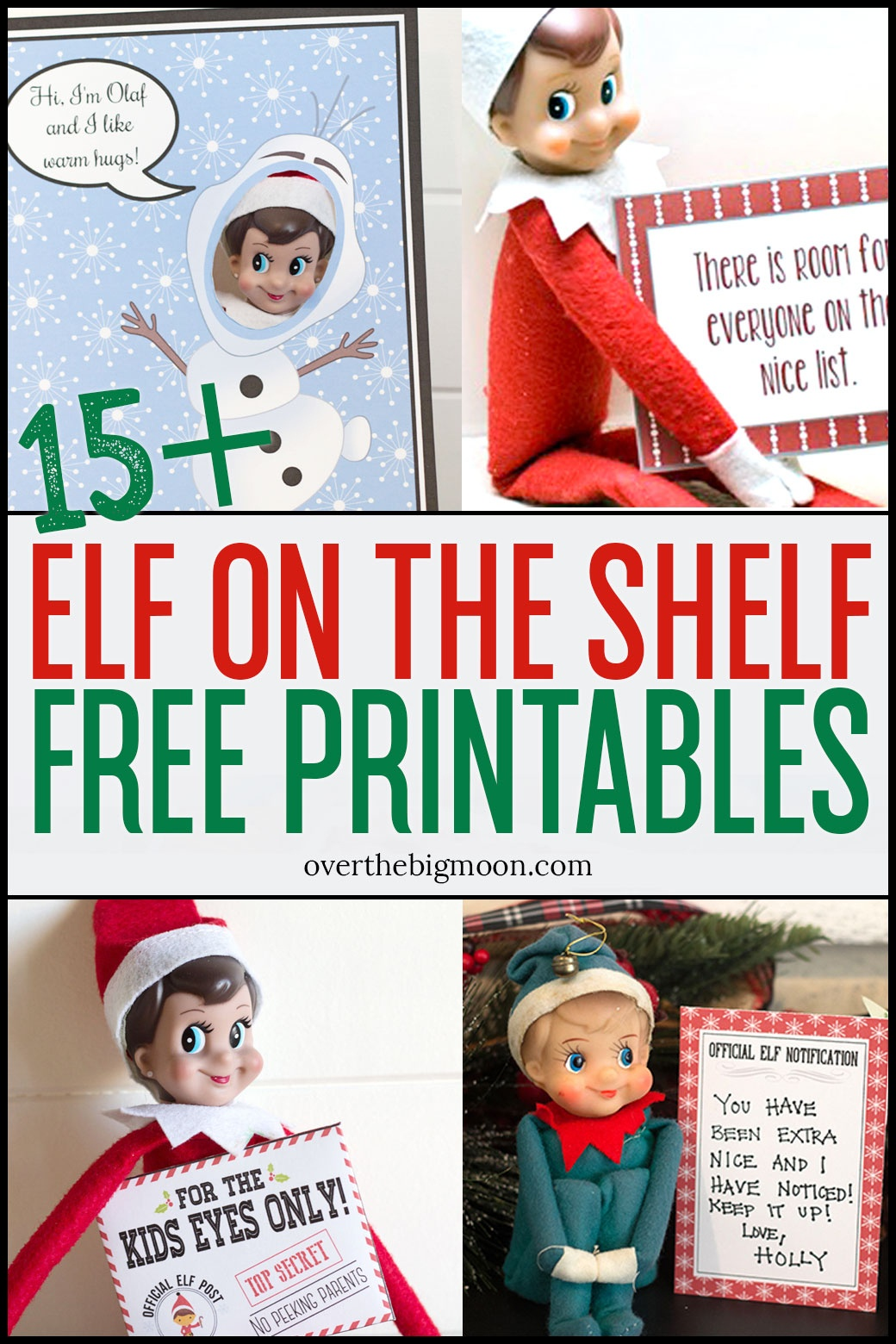 Elf On The Shelf Printables & Ideas | Over The Big Moon - Elf On The Shelf Free Printable Ideas