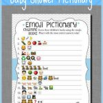 Emoji Baby Shower Game Printable, Elephant Emoji Pictionary   Emoji Baby Shower Game Free Printable