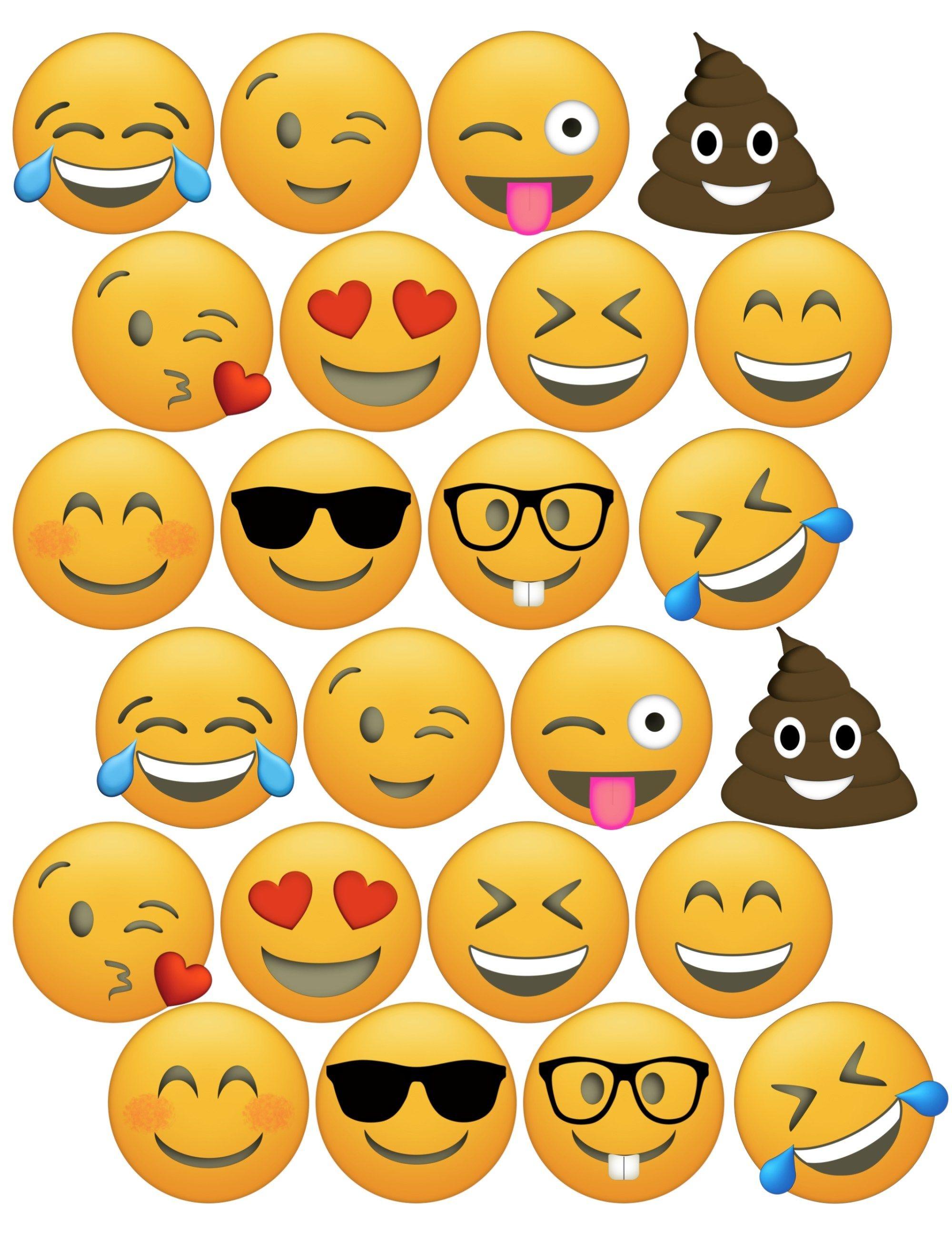 Emoji Cupcake Toppers Free Printable | Birthday Party | Emoji - Free Printable Emoji Faces