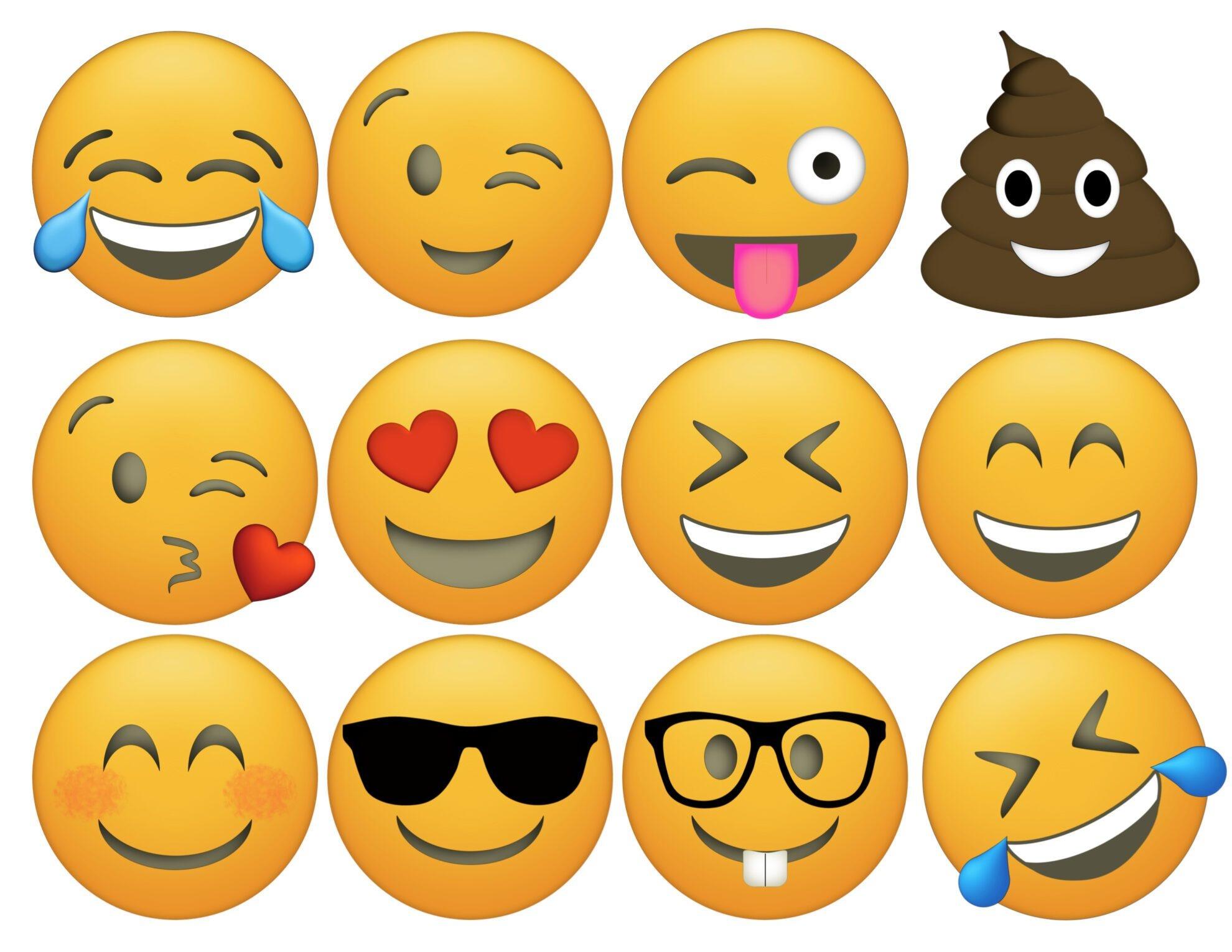 Emoji Cupcake Toppers Free Printable - Paper Trail Design - Free Emoji Printables