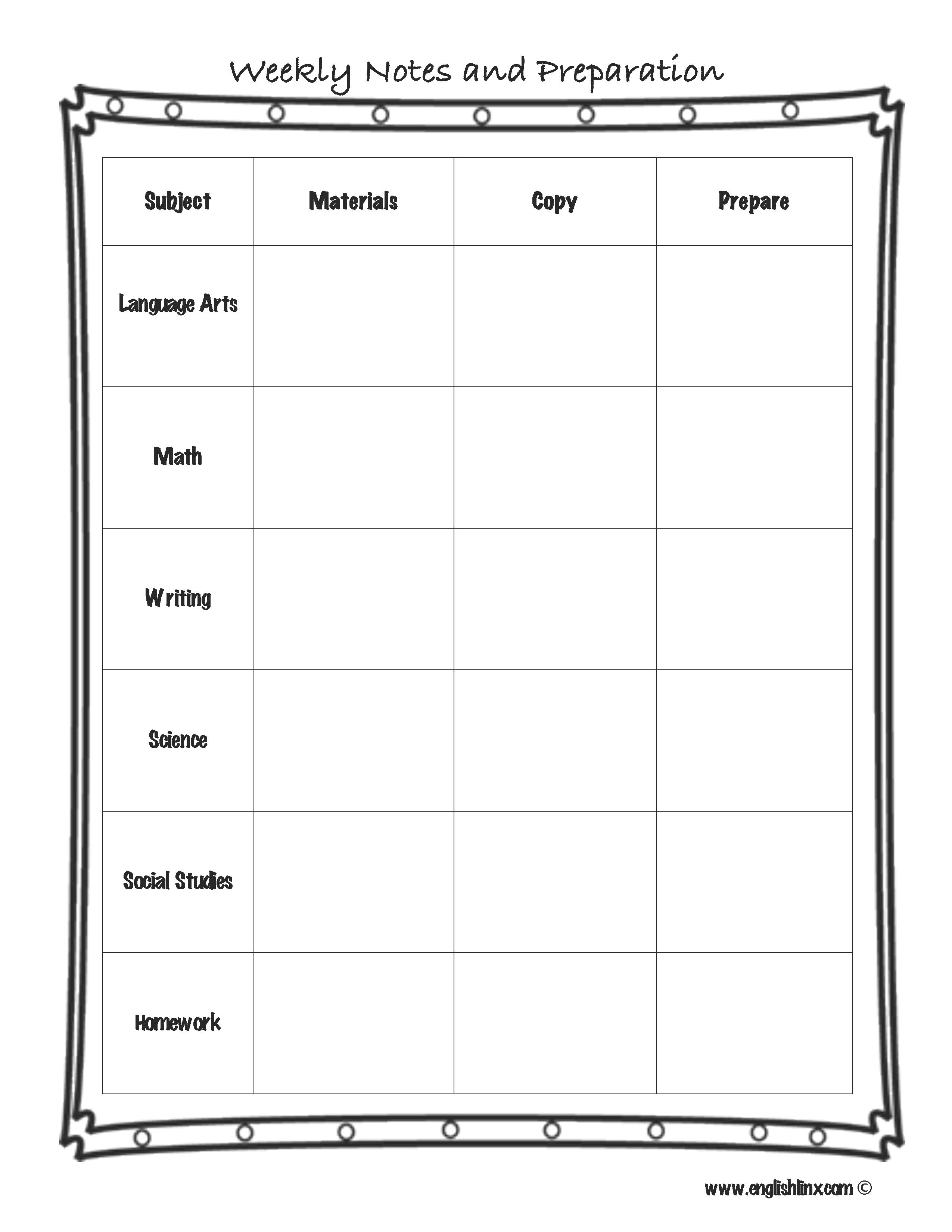 Englishlinx   Lesson Plan Template - Free Printable English Lessons