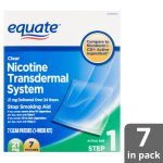 Equate Nicotine Transdermal System Clear Patches, 21 Mg, Step 1, 7   Free Printable Nicotine Patch Coupons
