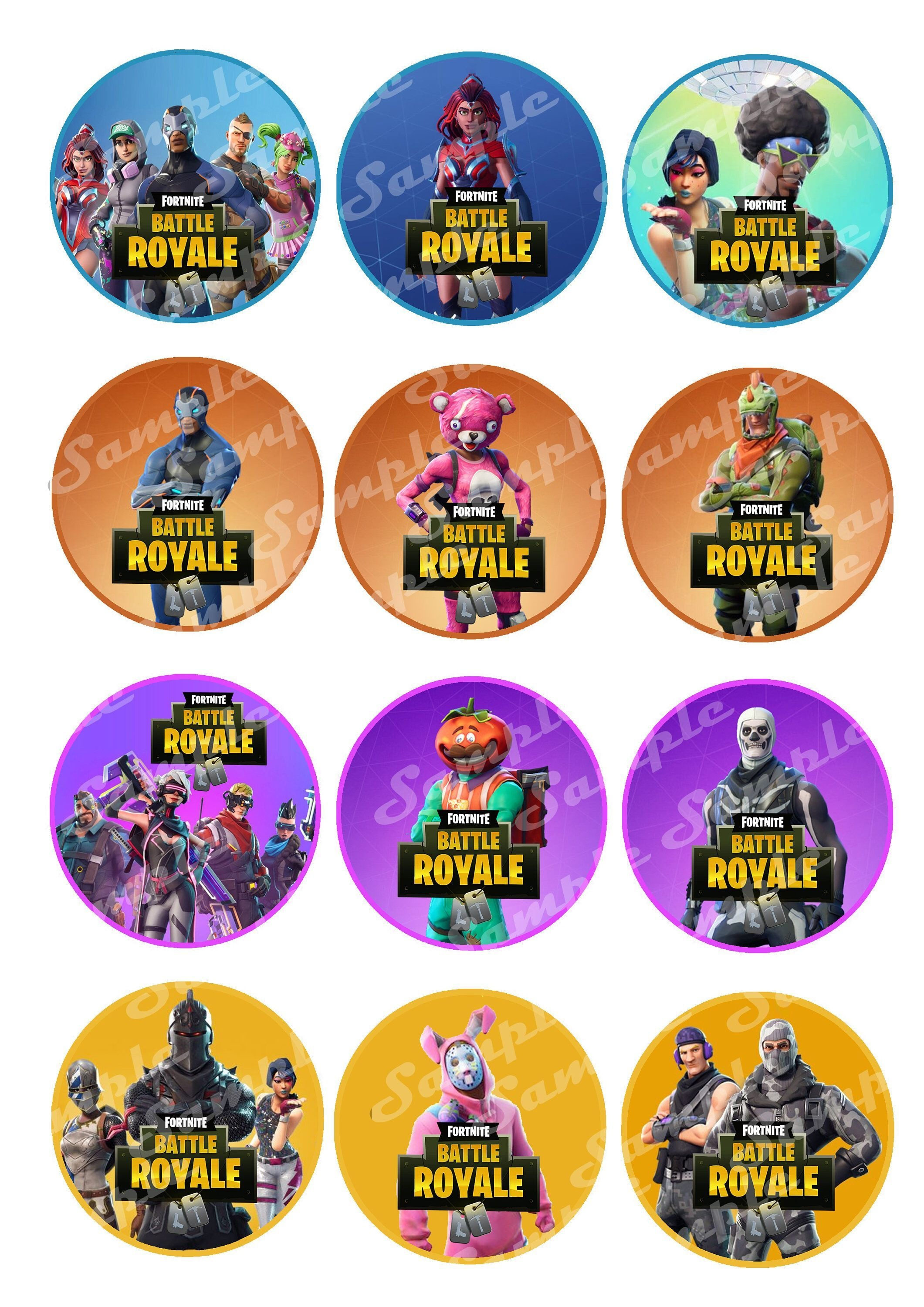 Excited To Share The Latest Addition To My #etsy Shop: Fortnite Hd - Free Printable Fortnite Cupcake Toppers