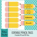 Exclusive Free Printables | Hospitality Pta | Pencil Labels   Free Printable Crayon Name Tags