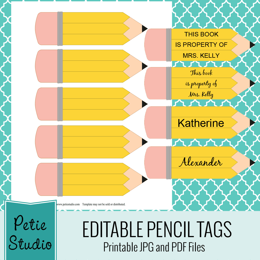 Exclusive Free Printables | Hospitality-Pta | Pencil Labels - Free Printable Crayon Name Tags