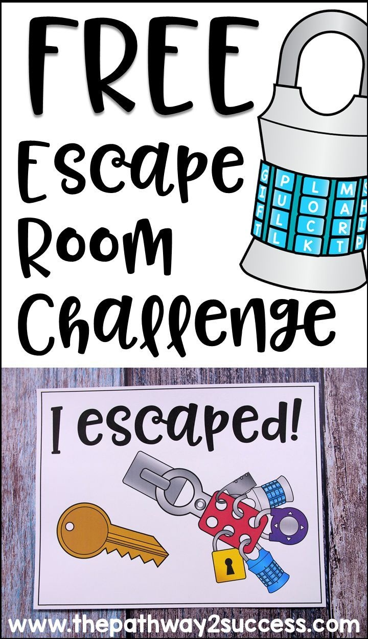 Executive Functioning Escape Room Activity | Cool Stuff From The - Free Printable Escape Room Puzzles