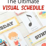 Extra Daily Visual Schedule Cards Free Printables   Natural Beach Living   Free Printable Picture Schedule Cards