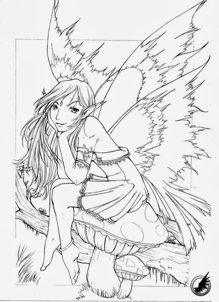 Fairy Coloring Pages Detailed Fairy Coloring Pages For Adults Free - Free Printable Coloring Pages For Adults Dark Fairies