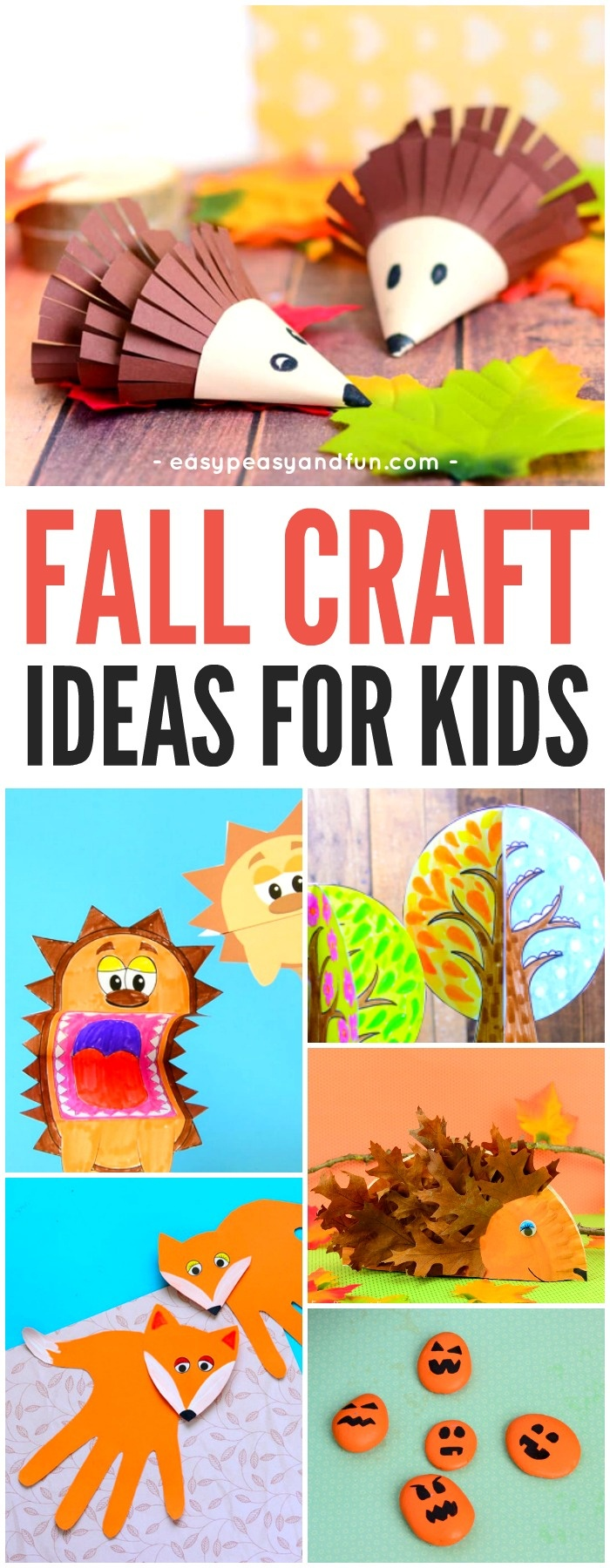 Fall Crafts For Kids - Art And Craft Ideas - Easy Peasy And Fun - Free Printable Fall Crafts For Kids