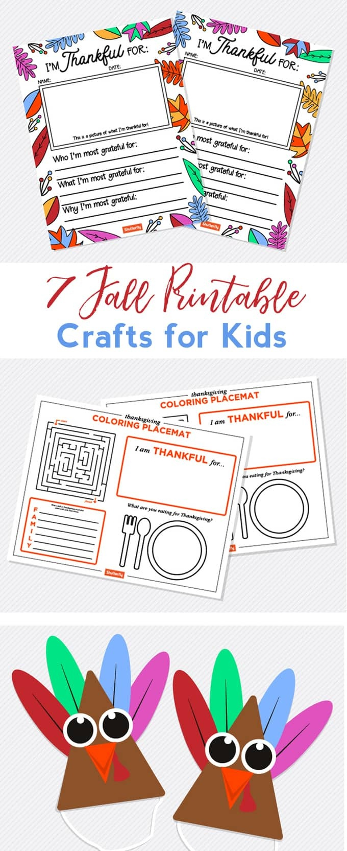 Fall Crafts For Kids With Free Printables - Free Printable Fall Crafts For Kids