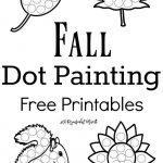 Fall Dot Painting {Free Printables} | Halloween | Painting   Free Printable Fall Crafts For Kids