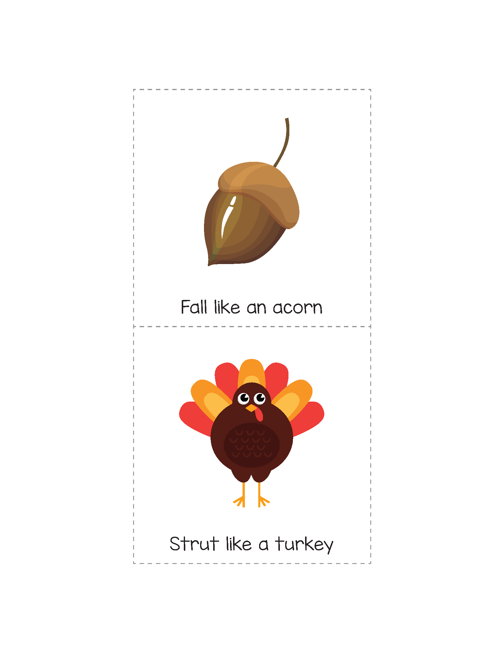 Fall Gross Motor Movement Game {Free Printable} | Education | Fall - Free Printable Fall Crafts For Kids