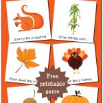 Fall Gross Motor Movement Game {Free Printable}   Gift Of Curiosity   Free Printable Fall Crafts For Kids