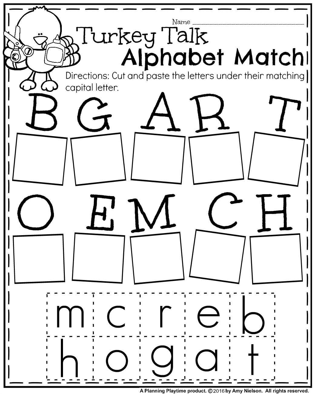 Fall Kindergarten Worksheets For November | Teachers Pay Teachers - Free Printable Kindergarten Worksheets Cut And Paste