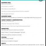 Fan Page Money Method | Savvy | Daycare Business Plan, Simple   Free Printable Simple Business Plan Template