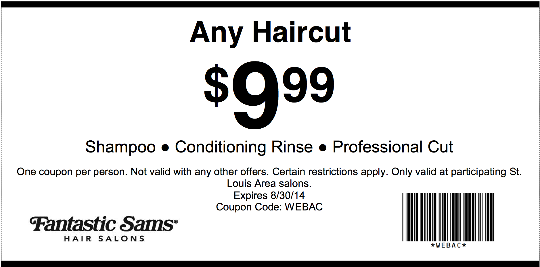 Fantastic Sams Printable Coupons Dec 2018 : Beaver Coupons - Supercuts Free Haircut Printable Coupon