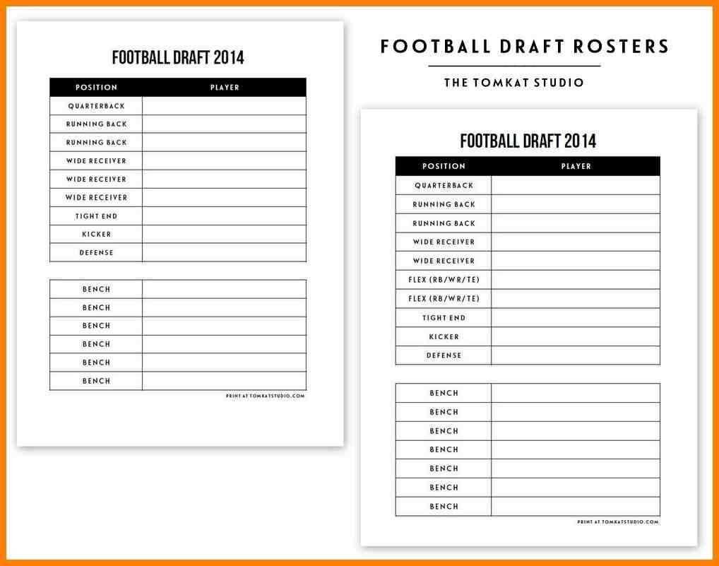 Fantasy Football Depth Chart Footballupdate Co Printable Draft - Fantasy Football Draft Sheets Printable Free