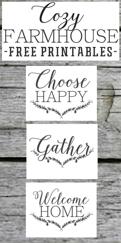 Farmhouse Free Printable Set-Gather-Choose Joy-Welcome Home - Free Printable Quote Stencils