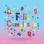 Feliz Cumpleanos   Happy Birthday In Spanish Card Royalty Free   Free Printable Happy Birthday Cards In Spanish