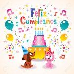 Feliz Cumpleanos   Happy Birthday In Spanish Greeting Card Royalty   Free Printable Happy Birthday Cards In Spanish