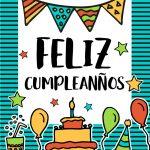 Feliz Cumpleanos Happy Birthday In Spanish Vector Image   Free   Free Printable Happy Birthday Cards In Spanish