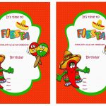 Fiesta Mexican Birthday Invitations | Birthday Printable   Free Printable Fiesta Invitations