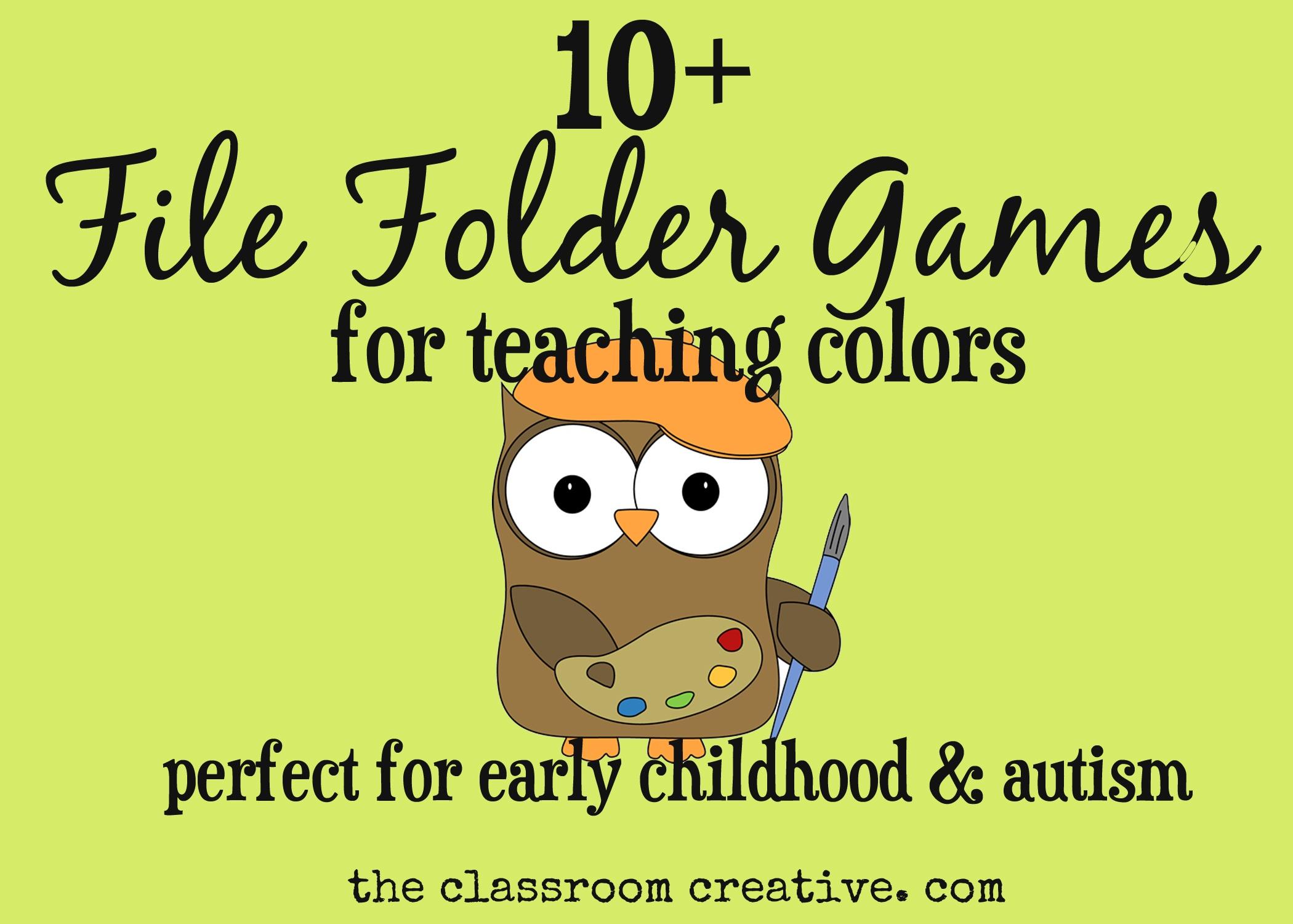File Folder Games For Teaching Colors - Free Printable File Folder Games