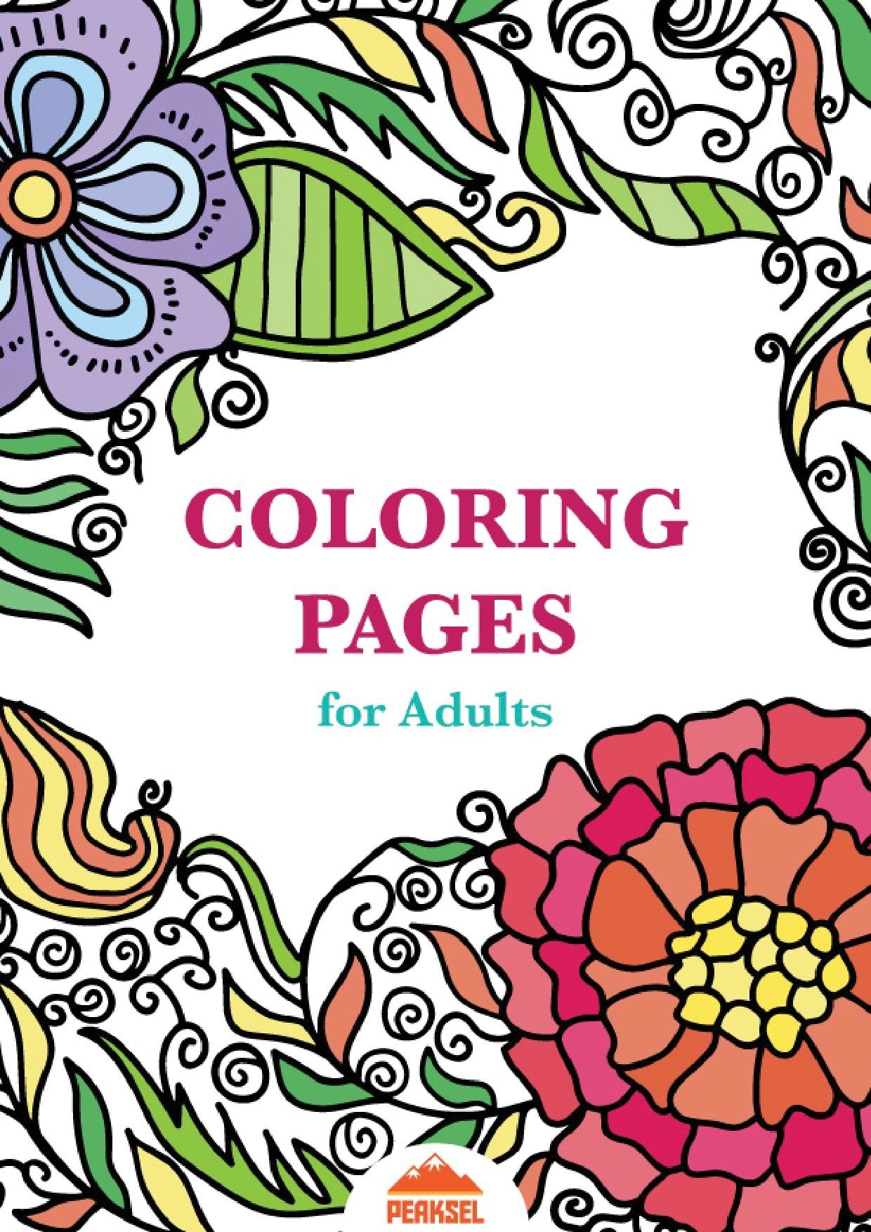 File:printable Coloring Pages For Adults - Free Adult Coloring Book - Free Printable Coloring Book