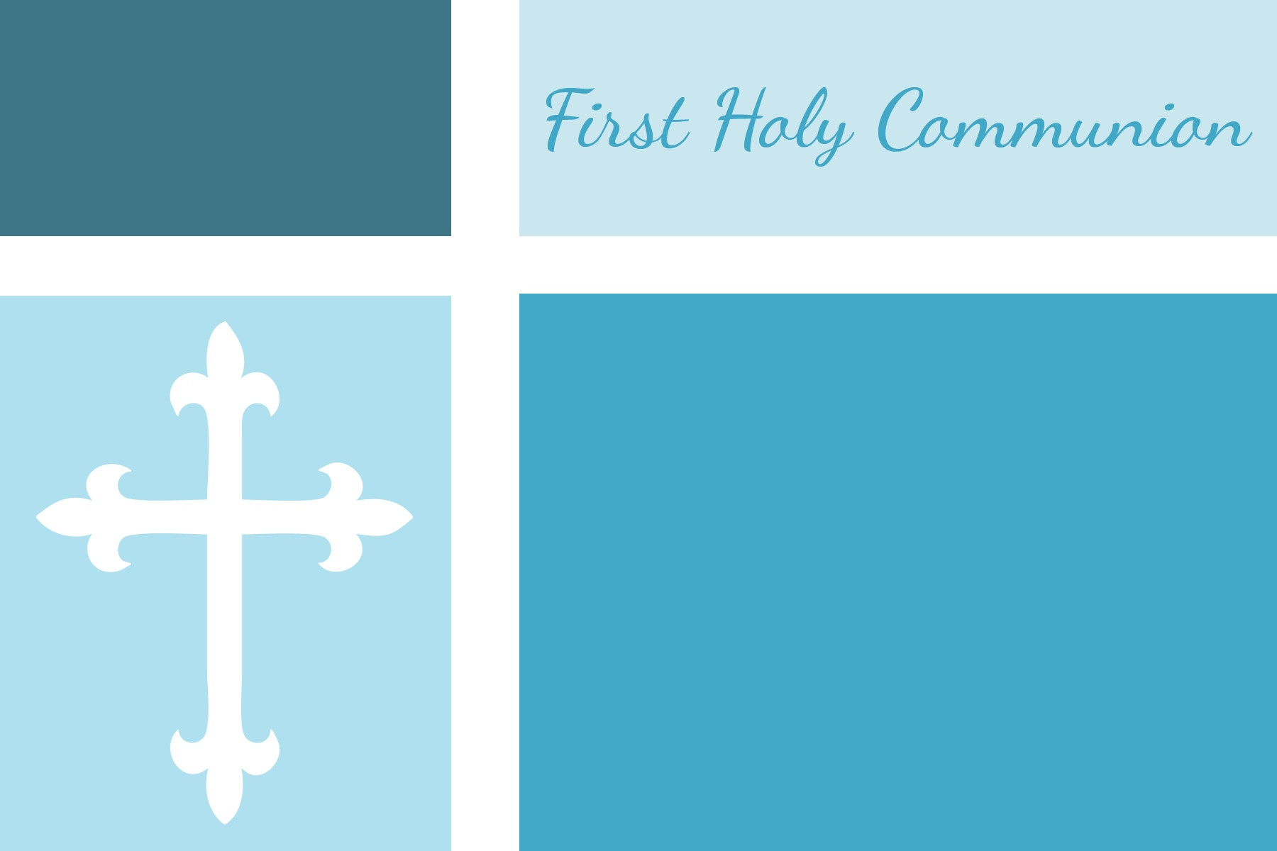First Communion, Baptism, And Confirmation Invitations Or - First Communion Printables Free