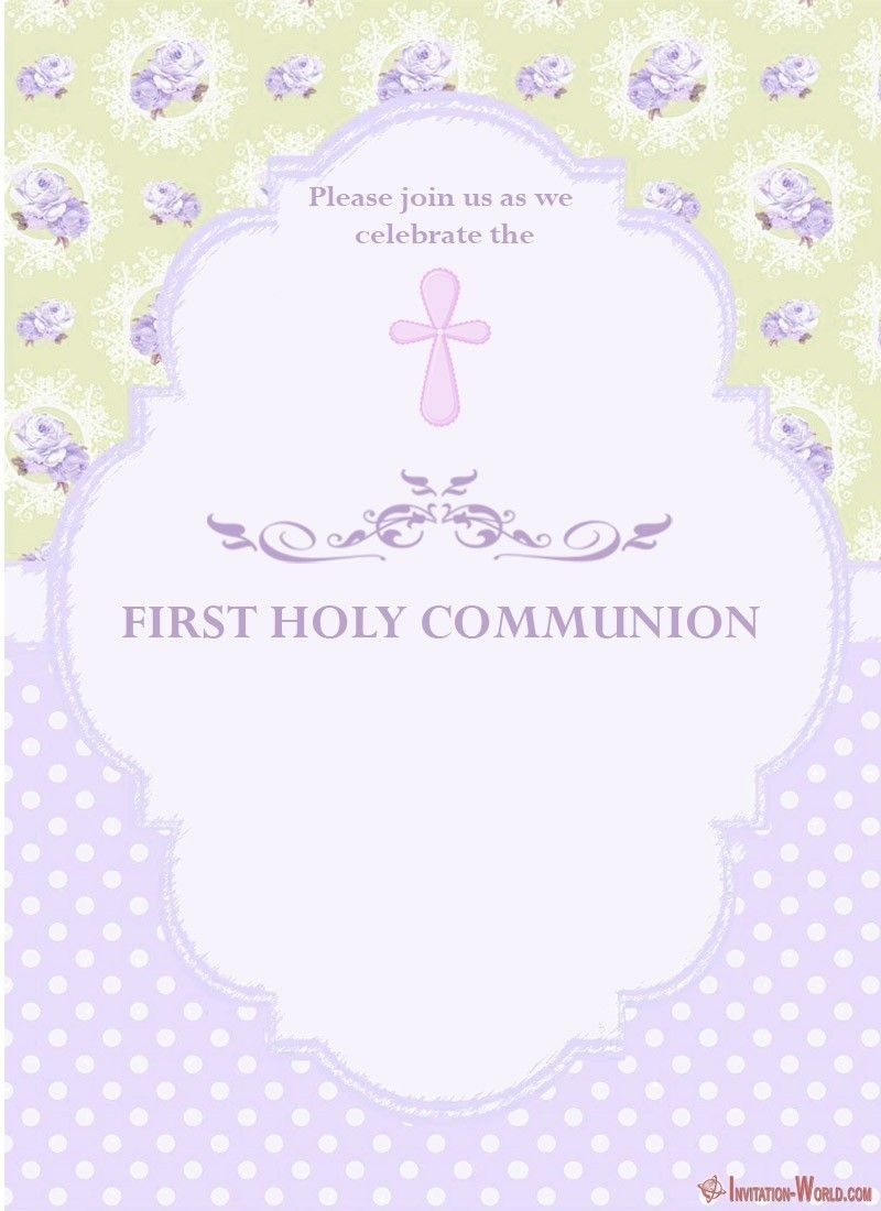 First Communion Invitation Cards | Coolest Invitation Templates - Free Printable First Communion Invitation Templates