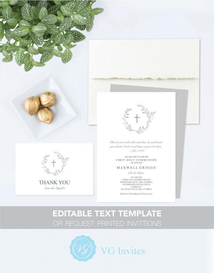 Free Printable First Communion Invitation Cards