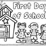 First Day Of School Coloring Page | Coloring Page Book   Free Printable First Day Of School Coloring Pages