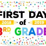 First Day Of School Signs – Free Printables – Handmade Crafts,amazon   My First Day Of Kindergarten Free Printable