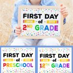 First Day Of School Signs   Free Printables   Happiness Is Homemade   Free Printable First Day Of School Signs 2018
