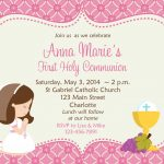 First Holy Communion Invitation Cards Free | Amber's Communion Ideas   Free Printable First Communion Invitation Cards