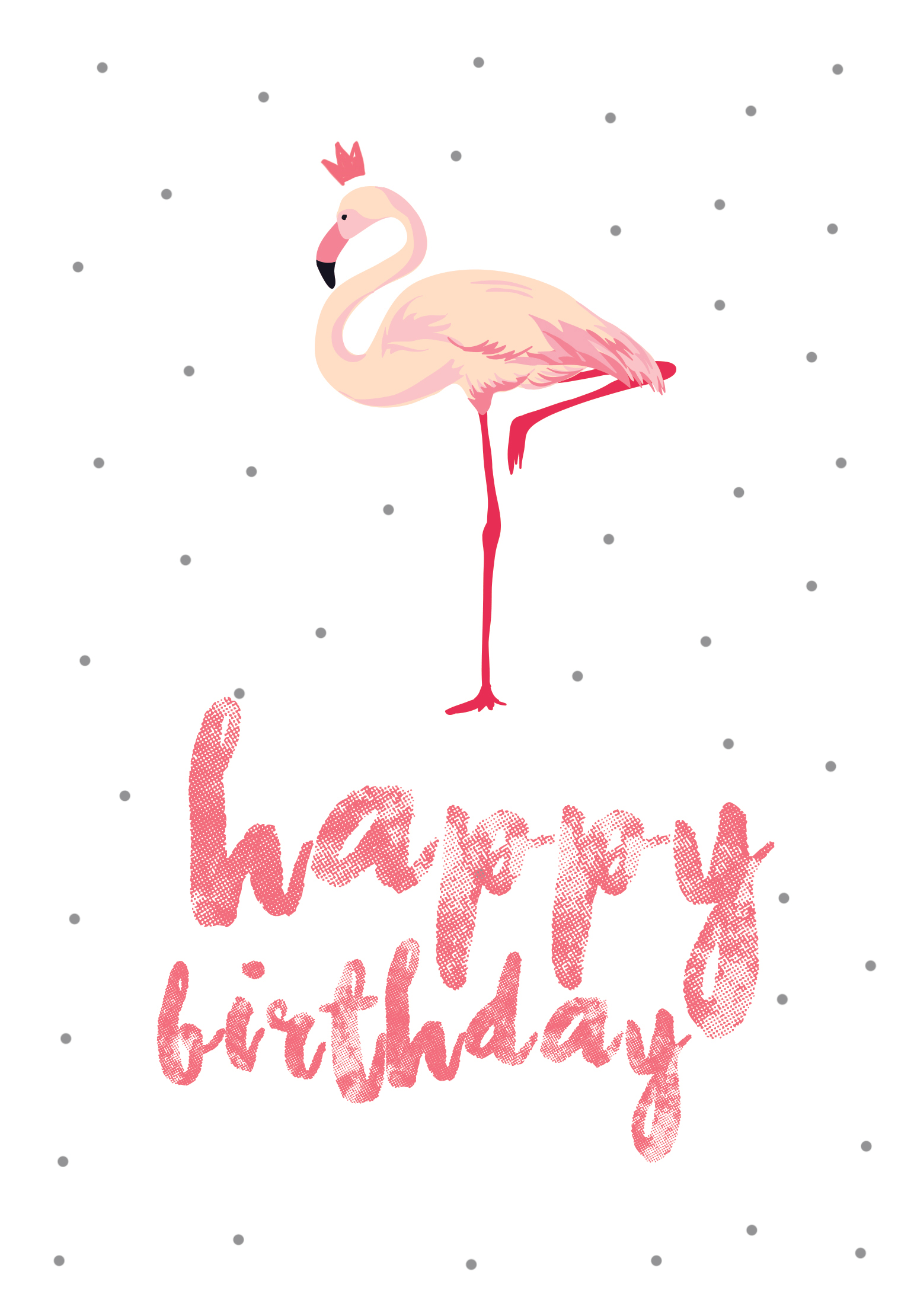Flamingo Birthday - Free Printable Birthday Card | Greetings Island - Free Printable Bday Cards