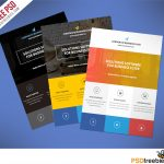 Flat Clean Corporate Business Flyer Free Psd   Psdfreebies   Free Printable Flyer Maker