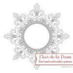 Fleur De Lis Frame: Free Hand Embroidery Pattern – Needlenthread   Free Printable Paper Pricking Patterns