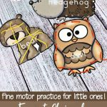 Forest Animal Printable Lacing Cards For Fine Motor Practice   Free Printable Lacing Cards