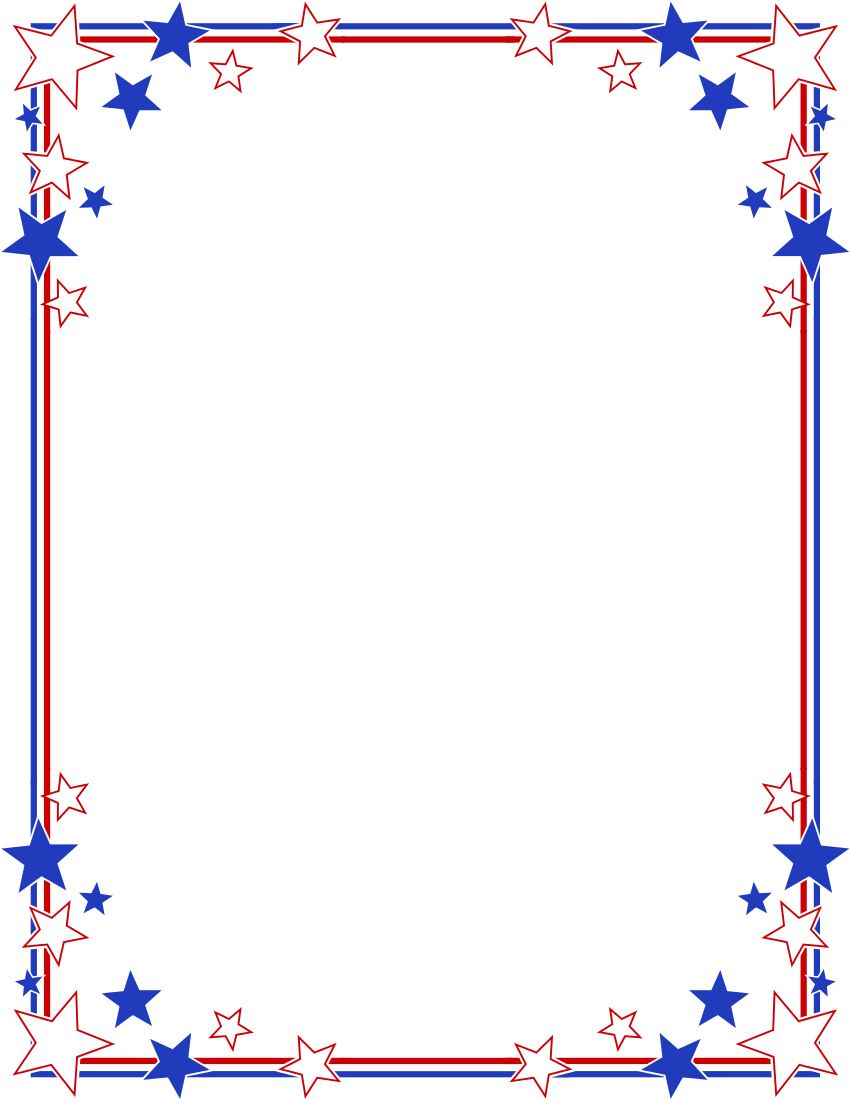 Forth Of July Border | Free Download Best Forth Of July Border On - Free Printable 4Th Of July Stationery