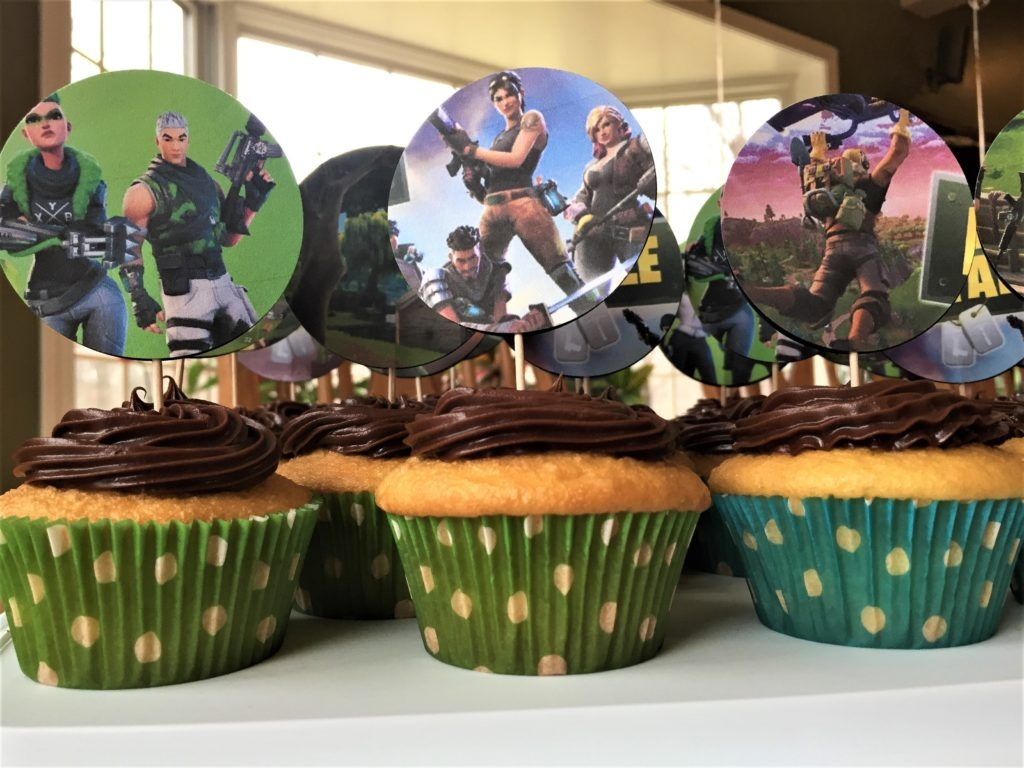 Fortnite Cupcake Topper Tutorial – Kids Birthday Parties - Free Printable Fortnite Cupcake Toppers