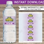 Fortnite Water Bottle Labels Template | Fortnite Birthday Party   Free Printable Cars Water Bottle Labels