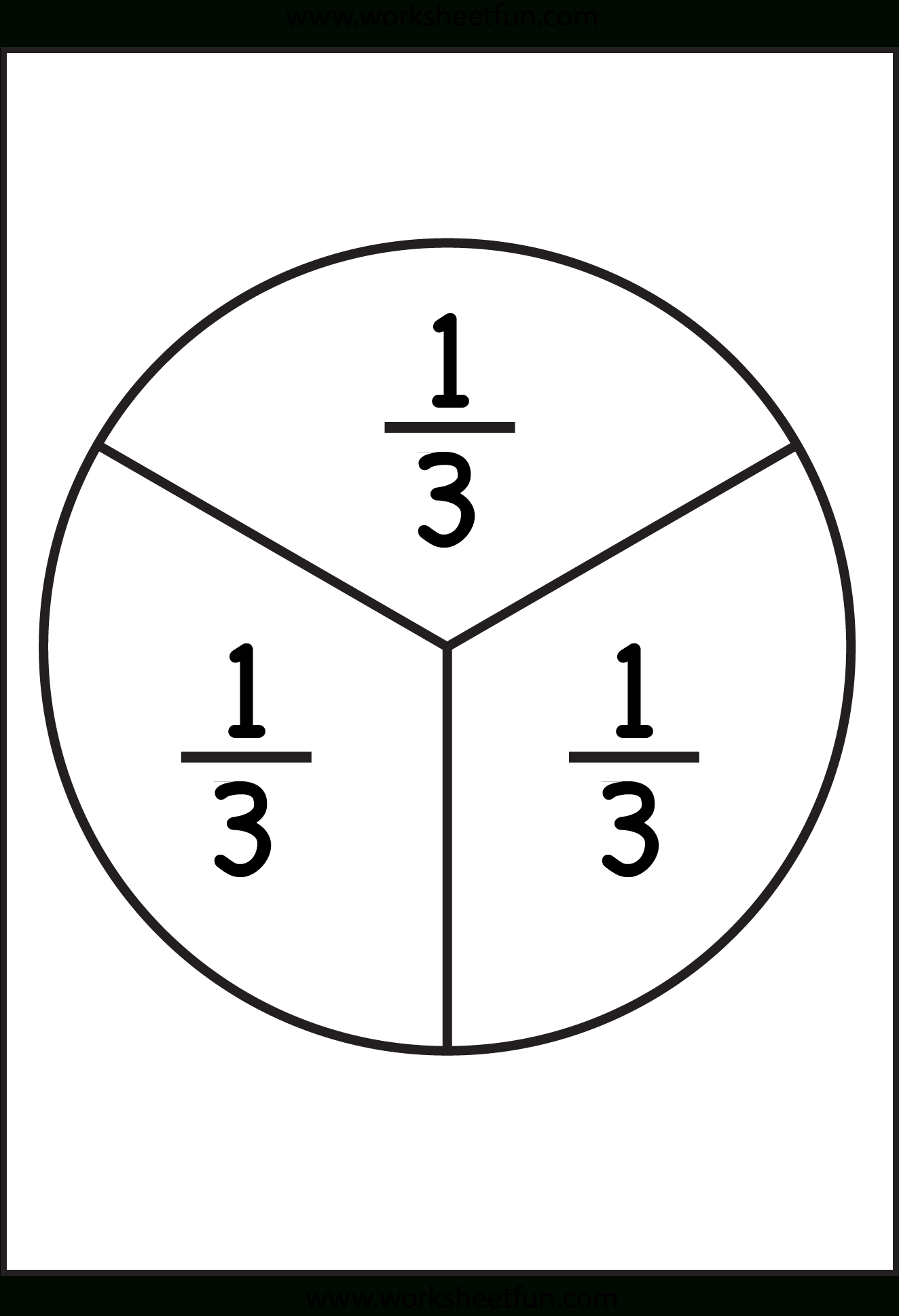 Fraction Circles - 11 Worksheets - 1/2,1/3,1/4,1/5,1/6,1/7,1/8,1/9,1 - Free Printable Blank Fraction Circles